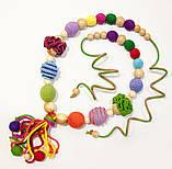 """Подарочный набор для мамы и малыша: слингобусы и грызунок Ярмирина """"Цветной Мир"""" бук и можжевельник, фото 2"""