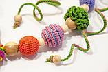 """Подарочный набор для мамы и малыша: слингобусы и грызунок Ярмирина """"Цветной Мир"""" бук и можжевельник, фото 3"""