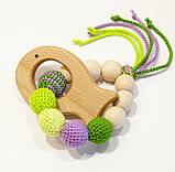 """Подарочный набор для мамы и малыша: слингобусы и грызунок Ярмирина """"Цветной Мир"""" бук и можжевельник, фото 4"""