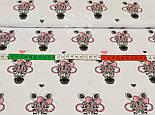 Ткань хлопковая с зебрами в розовых очках (№ 831а), фото 2