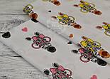 Ткань хлопковая с зебрами в розовых очках (№ 831а), фото 6