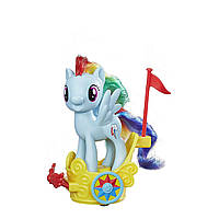 Набор My Little Pony Рейнбоу Даш с каретой. My Little Pony Rainbow Dash Royal Spin-Along Chariot.