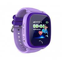 Водонепроницаемые Умные Детские Часы с GPS трекером Smart Baby Watch DF25 фиолетовые
