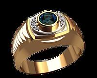 Мужское золотое кольцо Вулкан