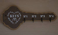 Настенная ключница-вешалка
