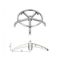 Крестовина KRAB 440 мм для стула табурета металлическая хромированная