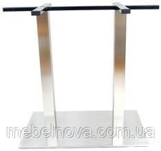 Опора для стола Е-25 металлическая Нержавеющая сталь. Для кафе, ресторанов, офисов двойная