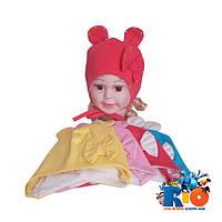 Детская шапка (весна-осень) , арт.162 , (тонкий трикотаж, ушки) , для девочек (р-р 46-48)