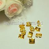Зажим-заглушка для пуссет,  золото, 10шт, фото 2