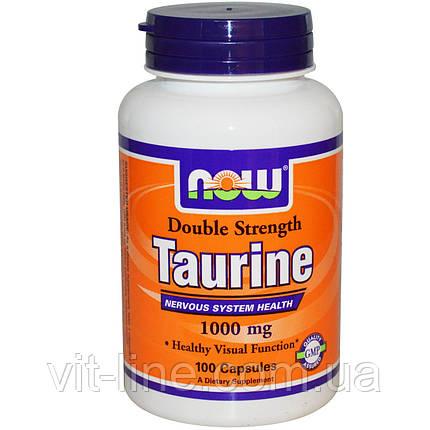 Таурин 1000 мг Now Foods, 100 капсул, фото 2