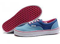 Кеды женские Vans Era Blue/Lible голубые/синие/розовые