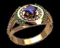 Золотое мужское кольцо Вулкан