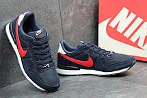 Летние мужские кроссовки Nike синие с красным 44, фото 2