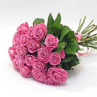 Букет розовых роз (19 шт)