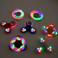 Спиннер светящийся с разной подсветкой Fidget Toy, Hand spinner, finger spinner, Вертушка, Хендспиннер фиджет