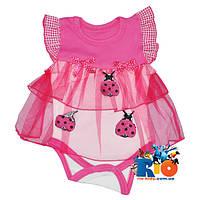 Боди-платье для детей «Букашки», на кнопках, хлопок, 50-56-62-68 см