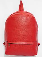 Рюкзак кож.зам. карман с наружи цвет красный, фото 1