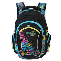Рюкзак для девочки Winner Stile (черно-голубой, черно-розовый)