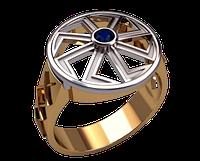 Мужское золотое кольцо Ладинец