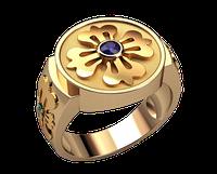 Золотой перстень Цветок