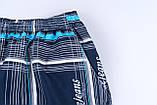 Чоловічі шорти в клітинку великого розміру (плащівка), темно-синього кольору, фото 2
