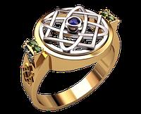Мужское золотое кольцо Символ звезды Лады