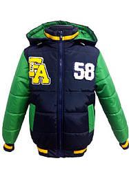 Детская демисезонная куртка БОМБЕР на мальчика, красная, р.26-34
