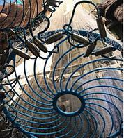 Кастинговая сеть Американка с КОЛЬЦОМ ФРИСБИ диаметр 4,3 метра, высота 2 метра, НИТКА яч. 12 мм