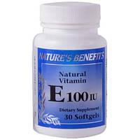 Биологически активная добавка Natures Benefits Vitamin Е 100 IU.