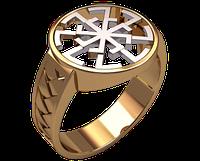 Золотое мужское кольцо Светоч