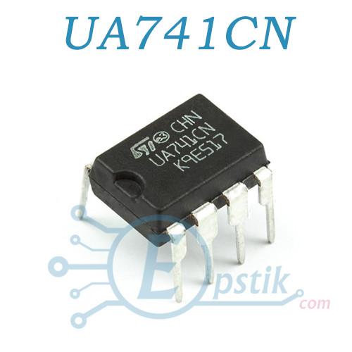 UA741CN, Универсальный одноканальный операционный усилитель, DIP-8