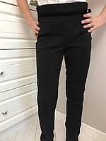 Школьные брюки с гипюром.Размеры 122-152.