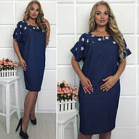 Комфортное джинсовое платье большого размера  52-60
