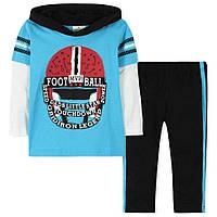 Весенне-осенний комплект 2 в 1 для мальчика от 18 месяцев до 6 лет (кофта, штаны на резинке, хлопок) ТМ Jumping Beans