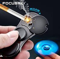 Спиннер зажигалка Lighter Fidget Spinner Серебристый