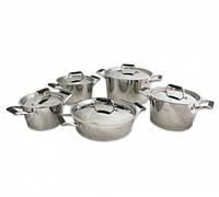 """Набор посуды из нержавеющей стали """"Elara"""" 10пр.со стальными крышками Fissman"""