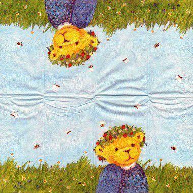 Салфетка декупажная Мишка и пчёлы 3031