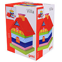 Развивающая игрушка Goki Пирамидка Домик (58934)