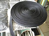 Тесьма 15 мм черная (50 метров в бобине)