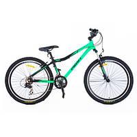 Спортивный велосипед с 21 скоростью PROFI - LINERS XM241 (салатаво-черный) на алюминиевой раме