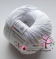 Пряжа Коттон Диамонд Cotton Diamond Performance, № 02, белый