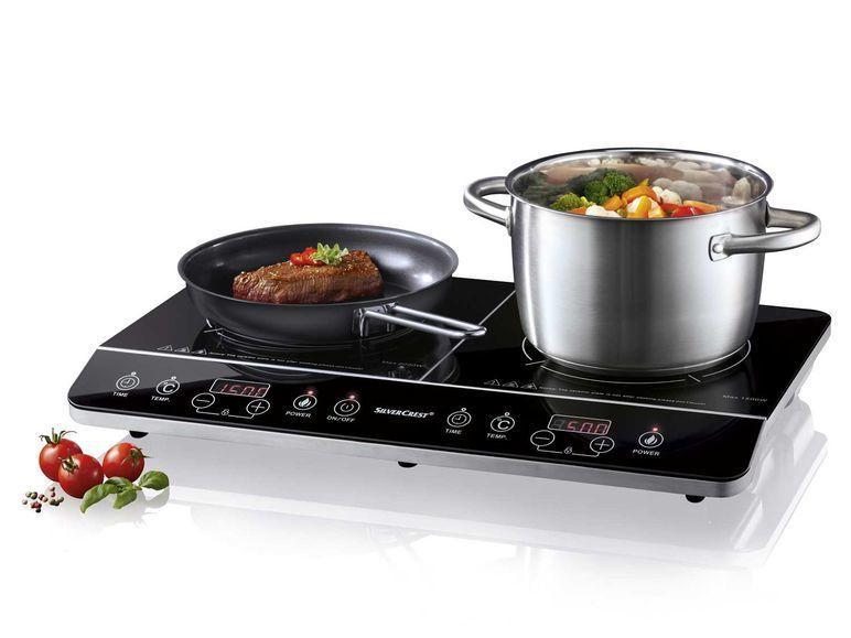 Индукционная плита две горелки SilverCrest 3500W Германия
