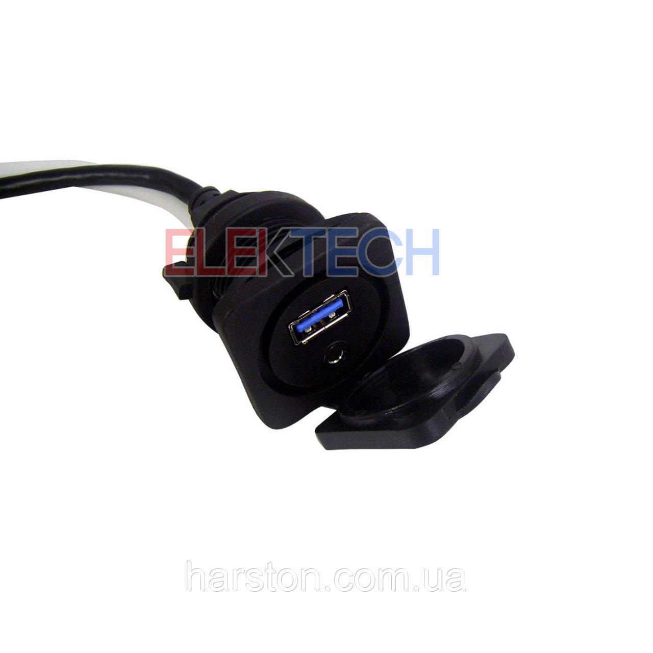 Врезной морской переходник 3,5 мм в RCA и USB 3.0