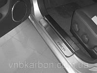 Накладки на пороги Premium Chevrolet Epica 2006-