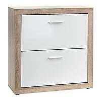 Стильнй шкаф для обуви, цвет белый дуб с 2-мя отделениями, фото 1