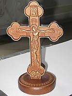 Резной крест настольный из дерева (185хх250х160)