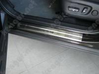 Хром накладки на пороги Toyota Rav4 2013, фото 1
