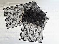 Шарф траурный (гипюр) размер 140 на 30