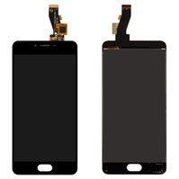 Дисплей для мобильных телефонов Meizu M3s, M3s Mini, черный, с сенсорн