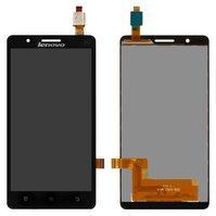 Дисплей для мобильного телефона Lenovo A536, черный, с сенсорным экран